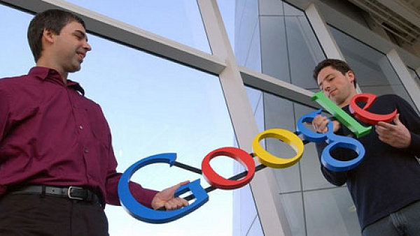 Zakladatelé Googlu Larry Page a Sergey Brin