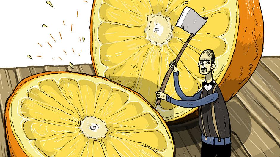 Pomeranč - ilustrace.
