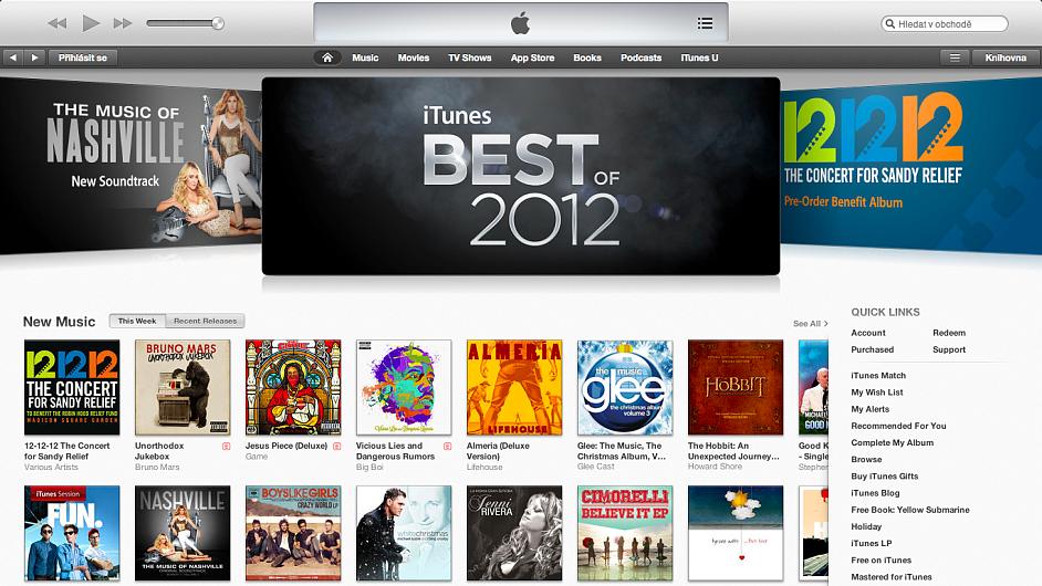 Nejlepší aplikace pro rok 2012 podle Applu