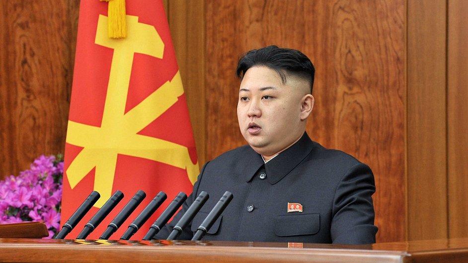 Kim Čong-un během novoročního projevu.