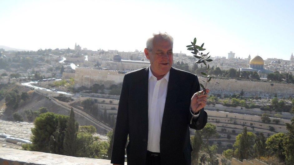 Jednou z posledních Zemanových zahraničních cest byla ta do Izraele.