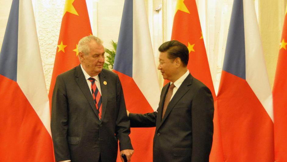 Český prezident Miloš Zeman se 4. září v Pekingu sešel se svým čínským protějškem Si Ťin-pchingem.
