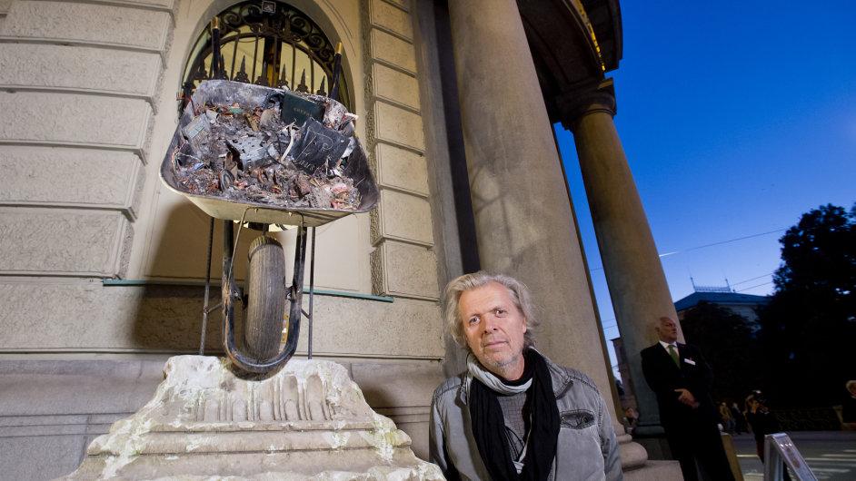 Jiří David, dočasný pomník Johanna Wolfganga von Goetheho