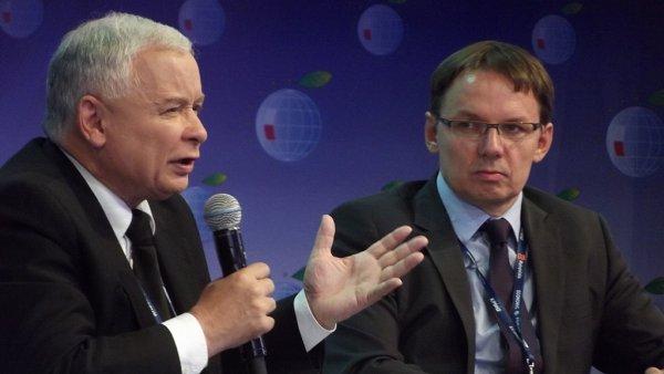 Igor Janke (vpravo) s Jaroslawem Kaczyńským.
