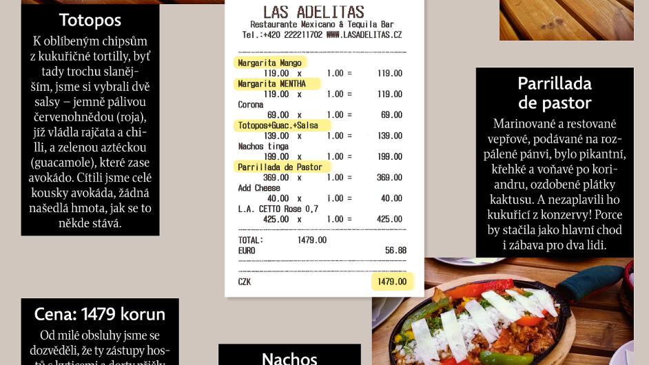 Tradiční mexickou kuchyni jsme ochutnali v restauraci Las Adelitas.
