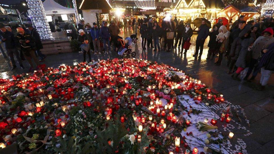 Berlín, vánoční trhy po útoku
