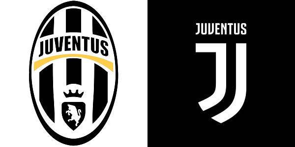 Původní a nové logo fotbalového klubu Juventus