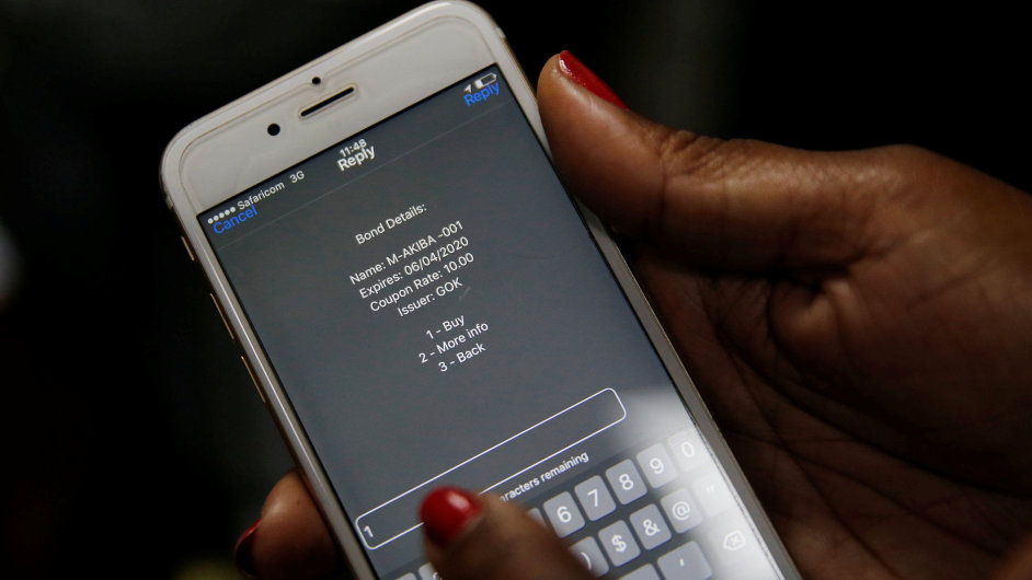 Keňa, dluhopisy přes mobilní telefon