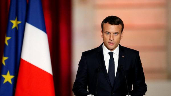 Francouzský prezident a lídr politického hnutí Republika v pohybu Emmanuel Macron.