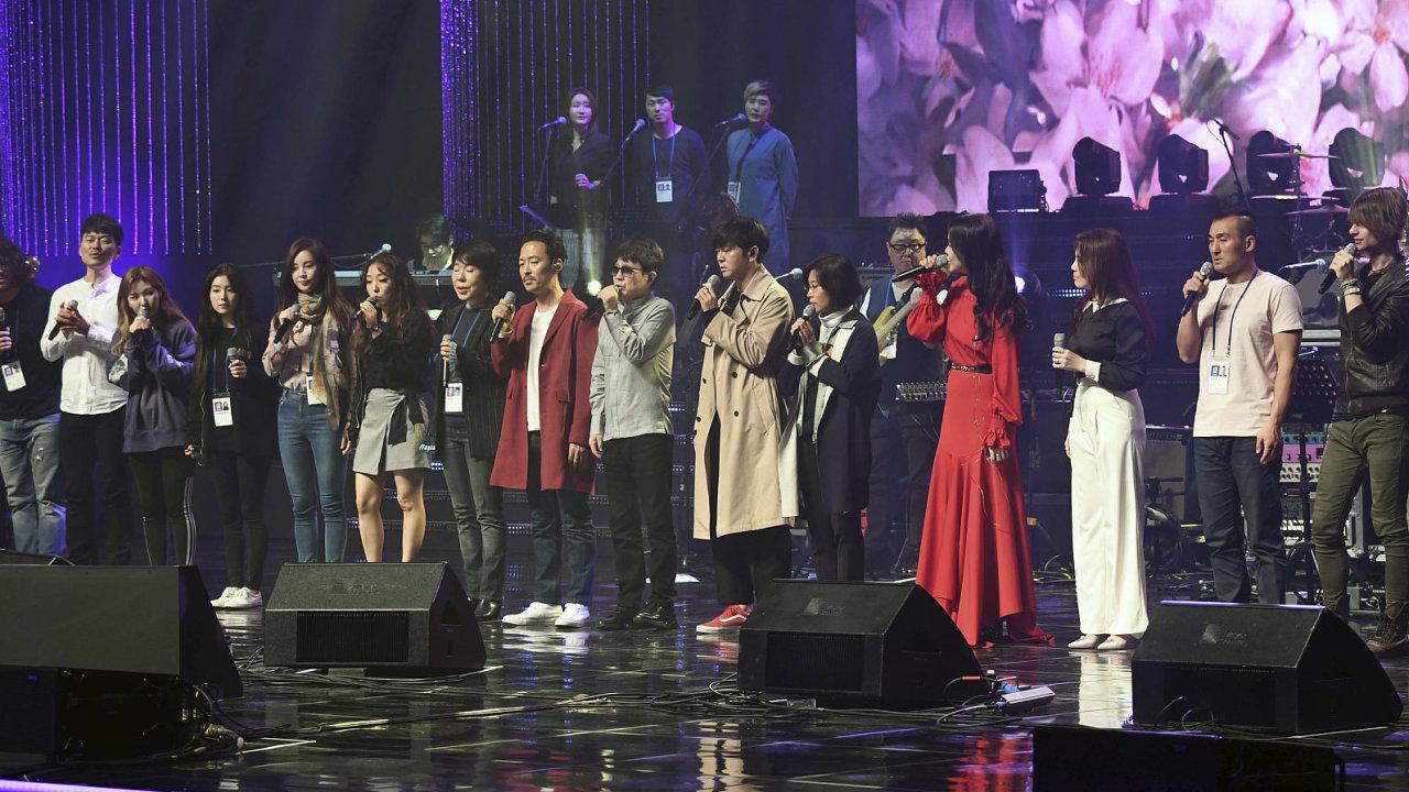 Kim Čong-un přišel na koncert jihokorejských popových hvězd.
