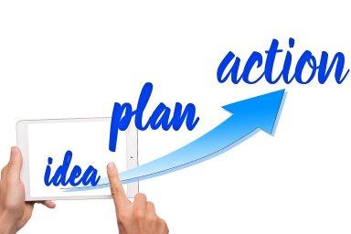 Idea, plán, realizace, ilustrace