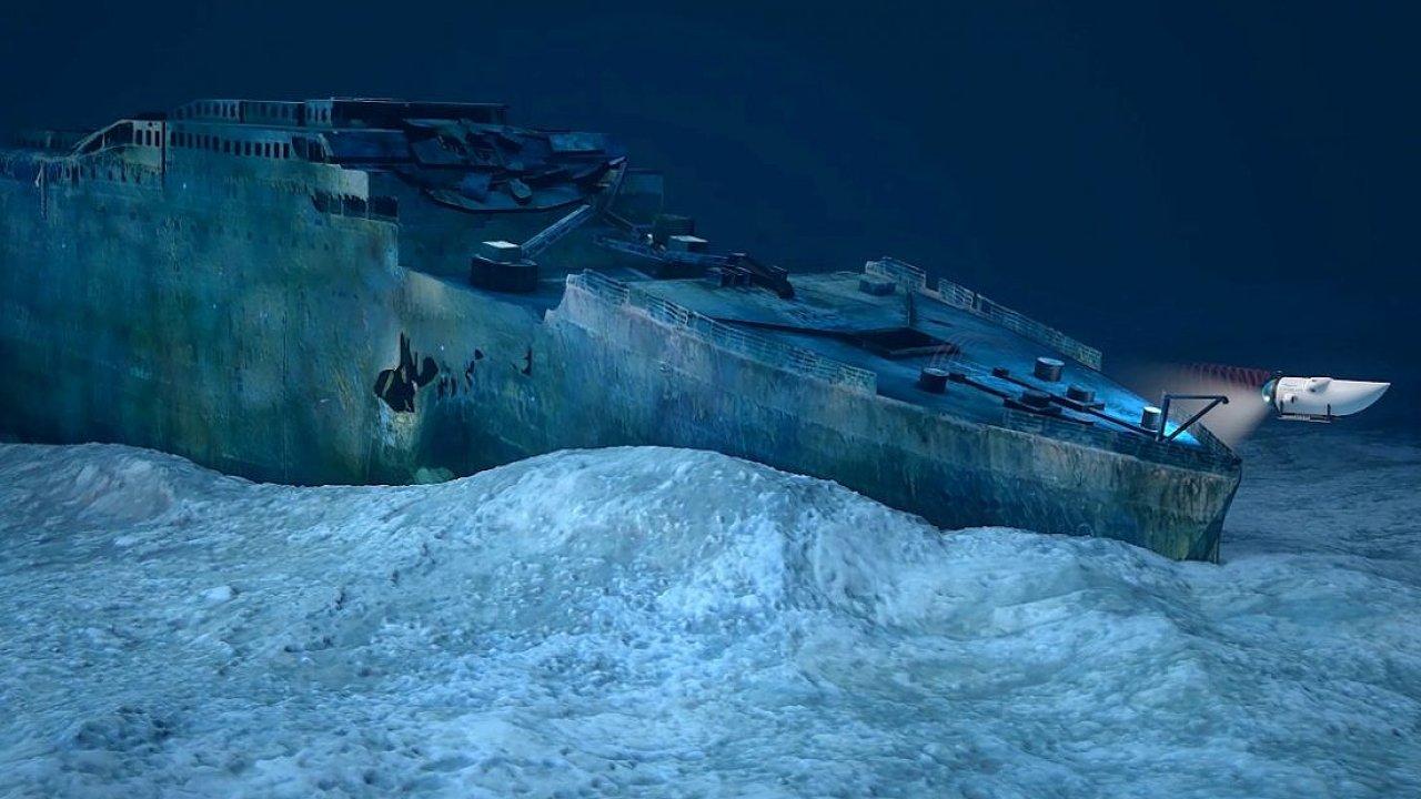 Společnost OceanGate pořádá expedice ponorkou k vraku Titaniku