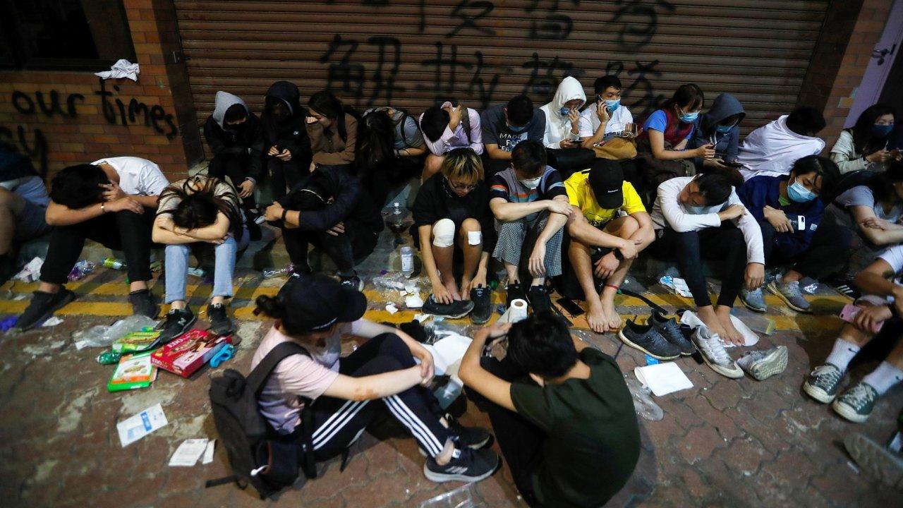 Hongkong, protesty, studenti