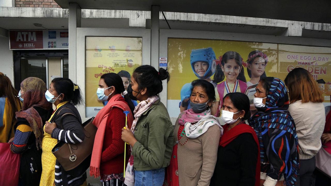 Koronavirus zasáhl i nepálské hlavní město Káthmándú.