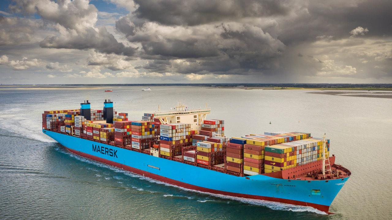 Společnost Maersk je největším kontejnerovým přepravcem na světě. Na snímku je její nákladní plavidlo Maribo Maersk.