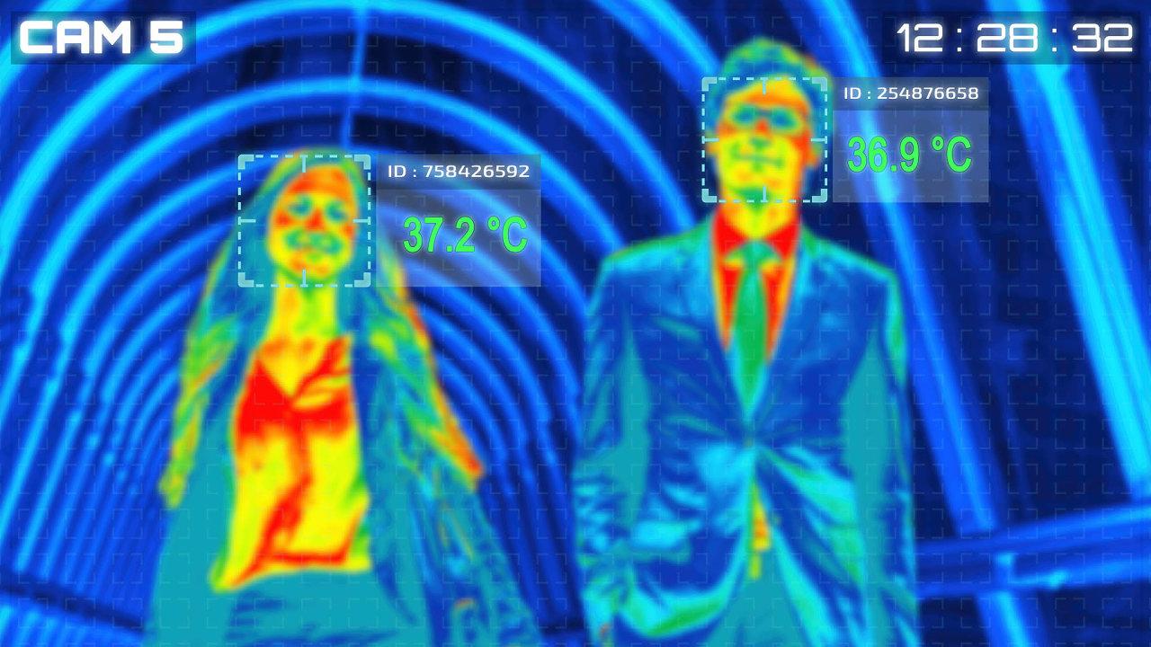 Příkladem inovace napomáhající lepšímu zvládnutí případné druhé vlny pandemie je instalace termokamer vobjektech, kde se pohybuje velké množství osob.