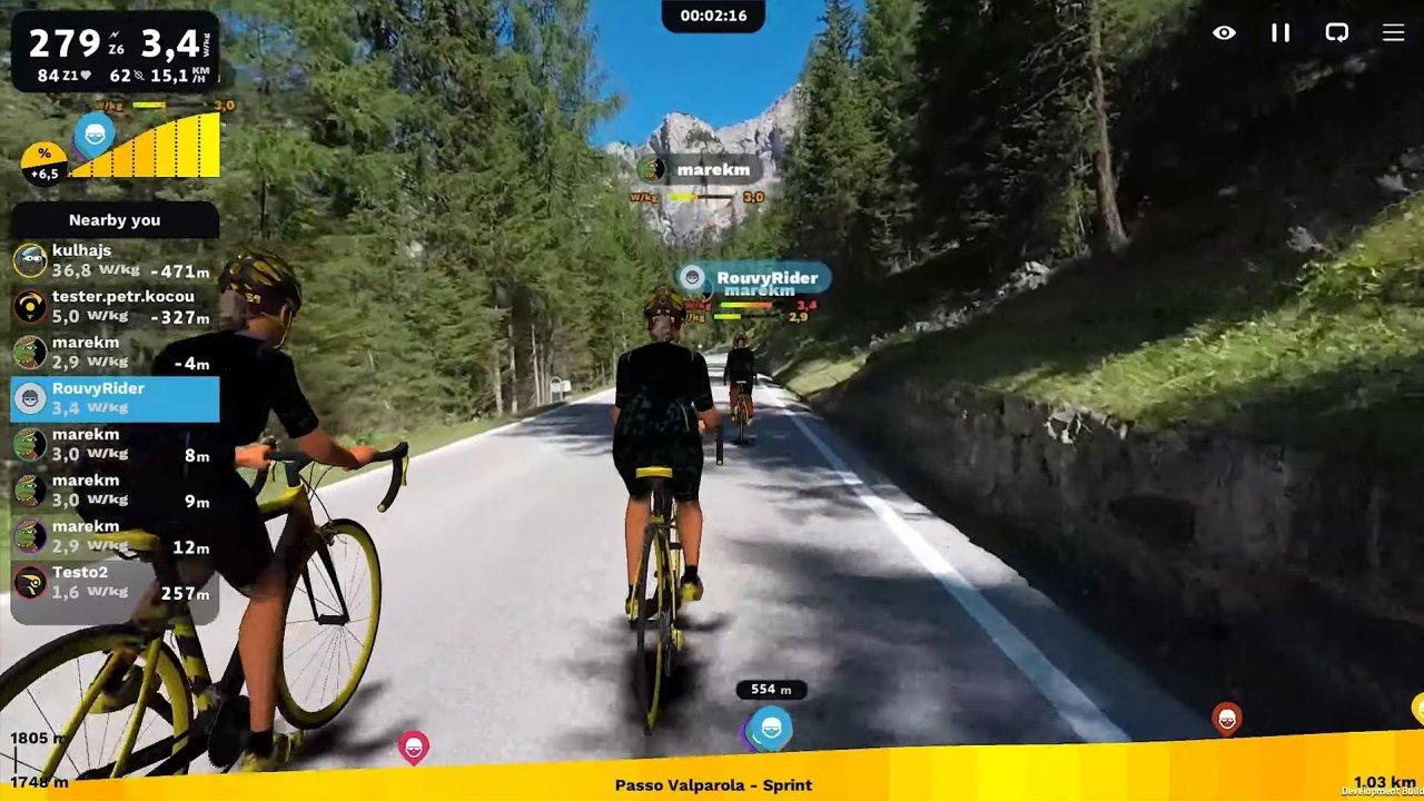 Náhled cyklotrenažéru Rouvy.