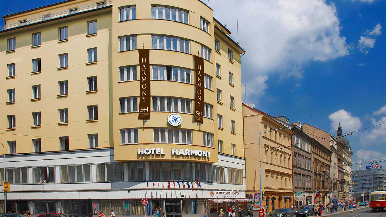 Hotel Harmony je jedním z pražských ubytovacích zařízení, v nichž by mohli být ubytovaní pacienti s lehkým průběhem nemoci covid či lidé v karanténě.