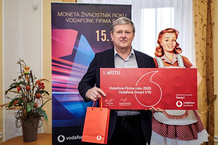 Vladimír Zeman, ředitel společnosti Amylon, Vodafone Firma roku 2020 Kraje Vysočina