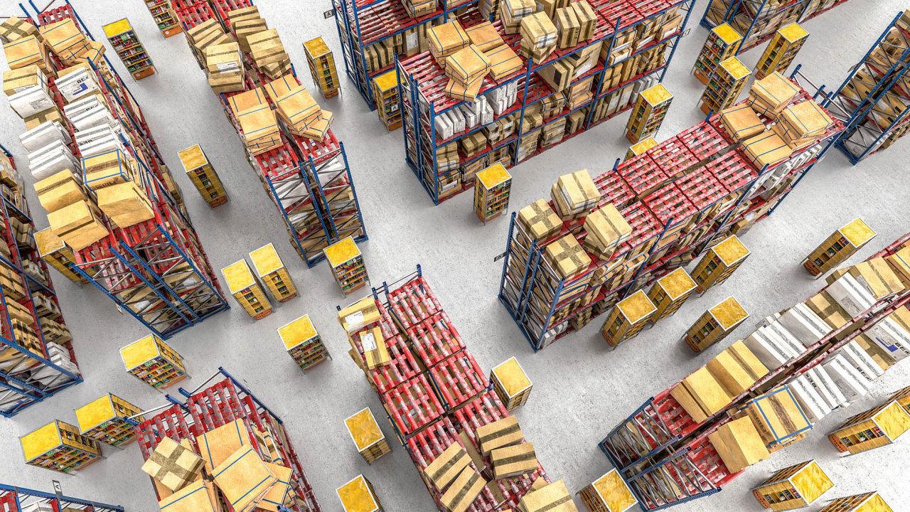 Hlavní výhodou chaotického skladování je úspora logistických ploch, atím inákladů.