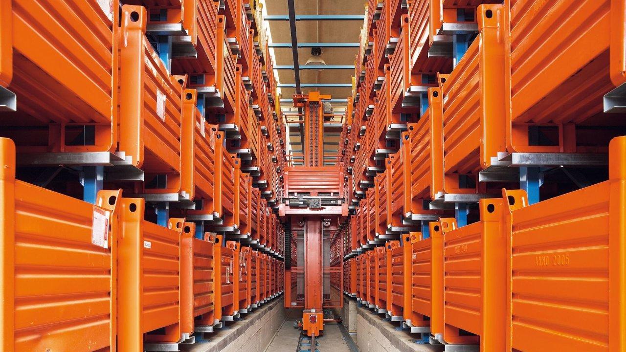 Plně fixní automatizace:  automatické regálové zakladače (AS/RS)