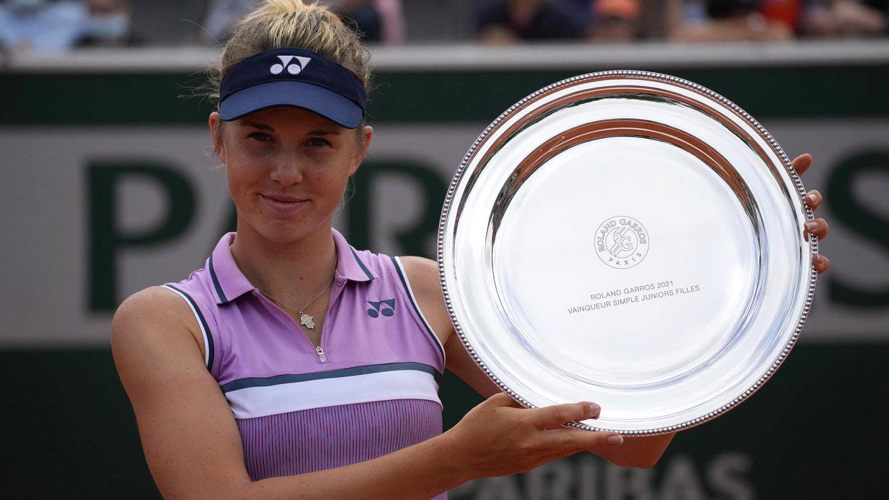 Linda Nosková s čerstvou trofejí