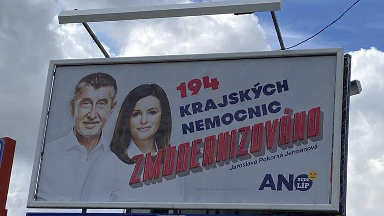 Billboard, Andrej Babiš, volby
