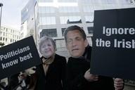 Demonstrace v sídle Evropské unie
