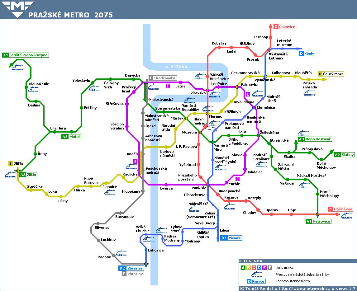 Metro motol mapa