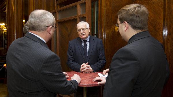V�clav Klaus na debat� CEP