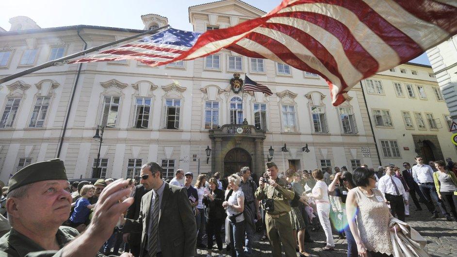 Americká ambasáda v Praze, ilustrační foto.