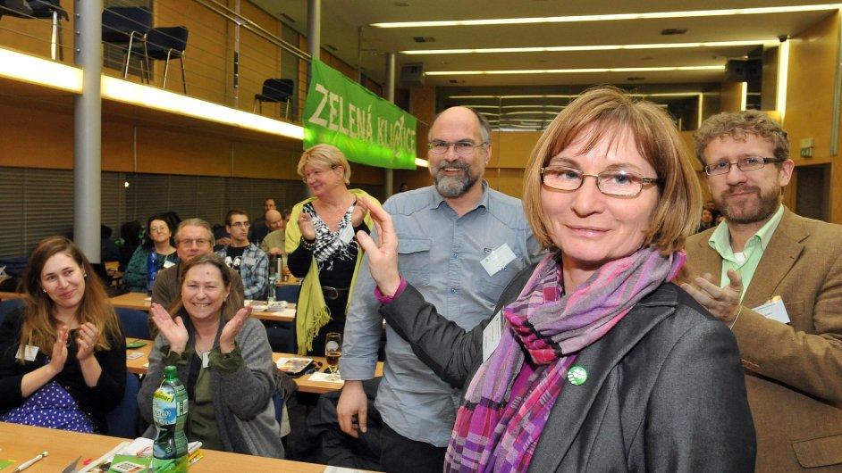 Jana Drápalová byla na sjezdu Strany zelených v Brně zvolena novou předsedkyní strany.