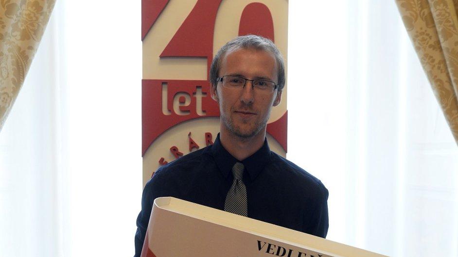 Na snímku Radovan Menšík, vítěz 20. ročníku Literární ceny Knižního klubu.
