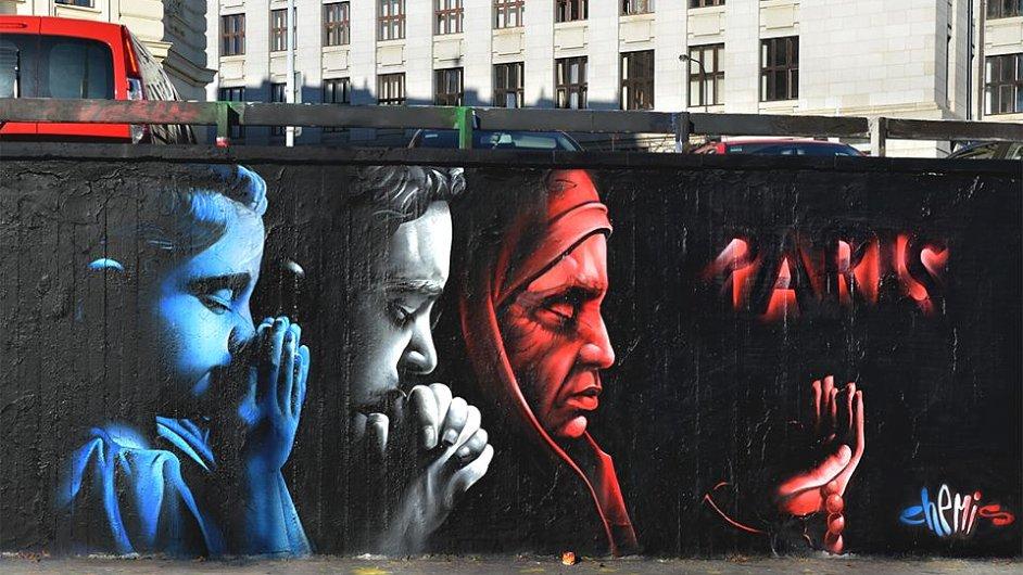 ChemiS své graffiti vytvořil na pražském Těšnově.