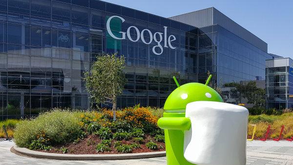 Budova, centr�la Googlu - vep�edu pan��ek Android - ilustra�n� foto
