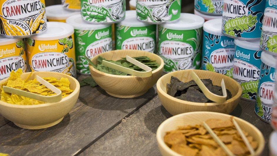 Ukázka produktu raw stravy Lifefood - Crawnchies.