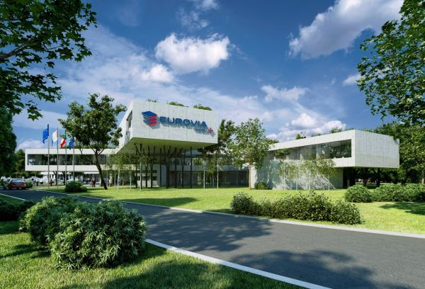 Vizualizace nového sídla společnosti Eurovia v pražské Krči.