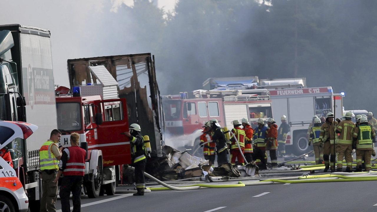 Německo, nehoda na dálnici