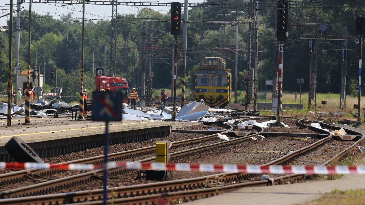 Nehoda vlaku ve Studénce.
