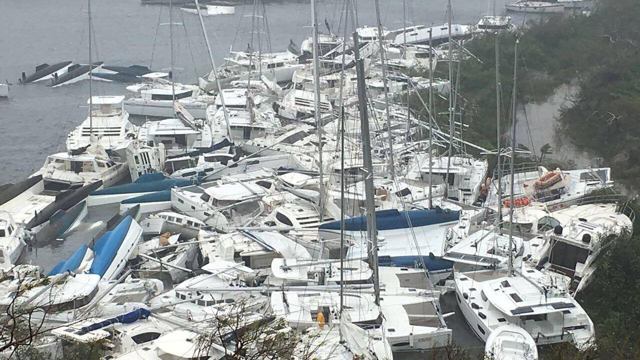 Řádění hurikánu Irma se nevyhnulo Panenským ostrovům.