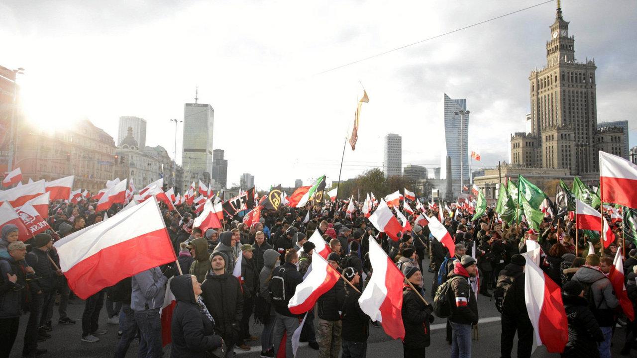 Varšava odsoudila rasismus a xenofobii, sobotní pochod brání.