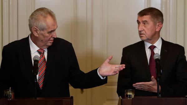Prezident Zeman jmenoval předsedu ANO Babiše premiérem