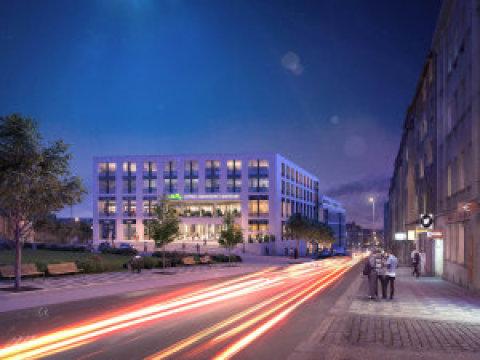 Takto bude vypadat obchodní centrum Letná, které začalo růst v pražské Veletržní ulici.