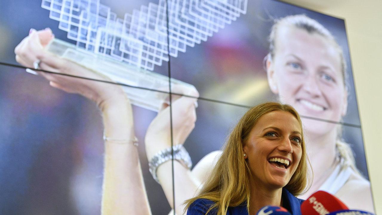 Tenistka Petra Kvitová vystoupila 15. května na tiskové konferenci v Praze.