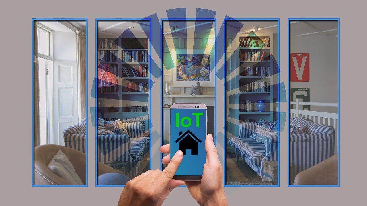 Chytrá domácnost, internet věcí, ilustrace
