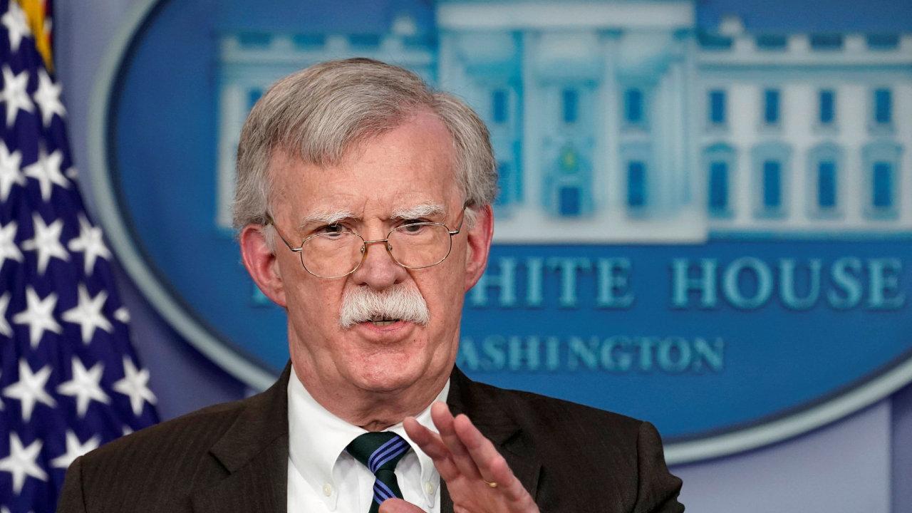 John Bolton, poradce amerického prezidenta Donalda Trumpa pro národní bezpečnost.