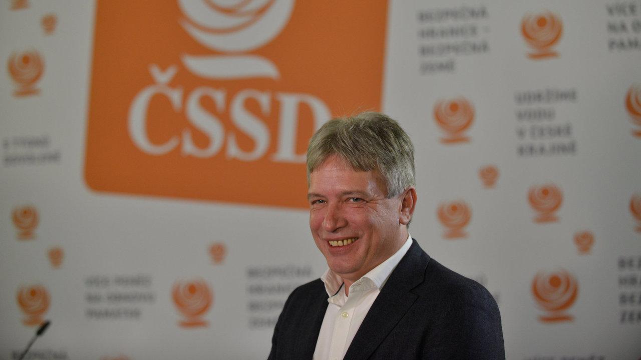 Komunální volby 2018, volební štáb ČSSD, na snímku Roman Onderka, místopředseda ČSSD