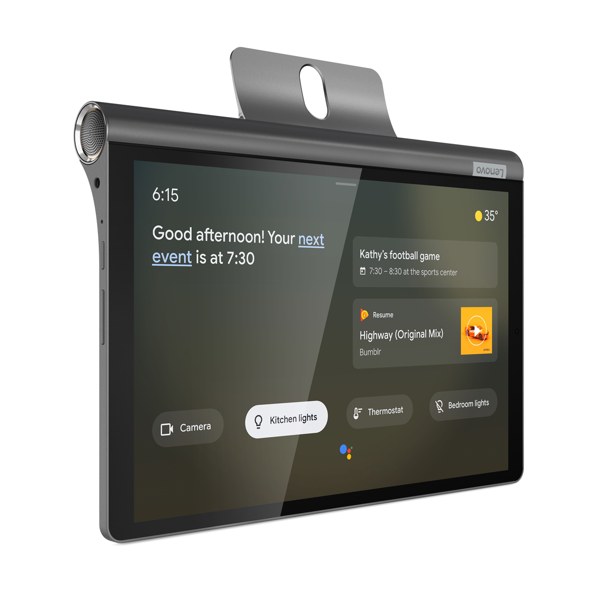 Model Yoga Smart Tab funguje jako tradiční desetipalcový tablet sAndroidem, odlišuje se však funkčním designem, který už známe zpředchozích generací.