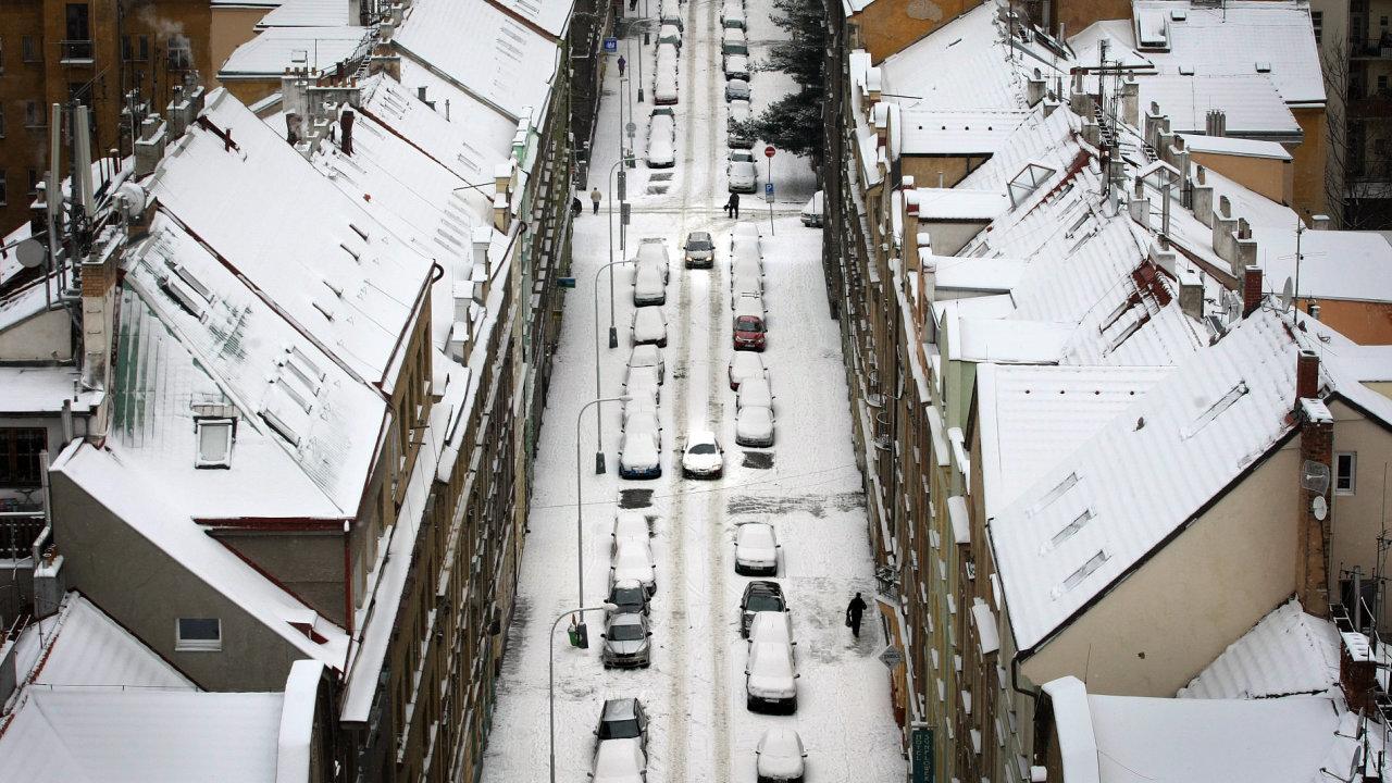 Mrazivé dny v Praze, ilustrační foto