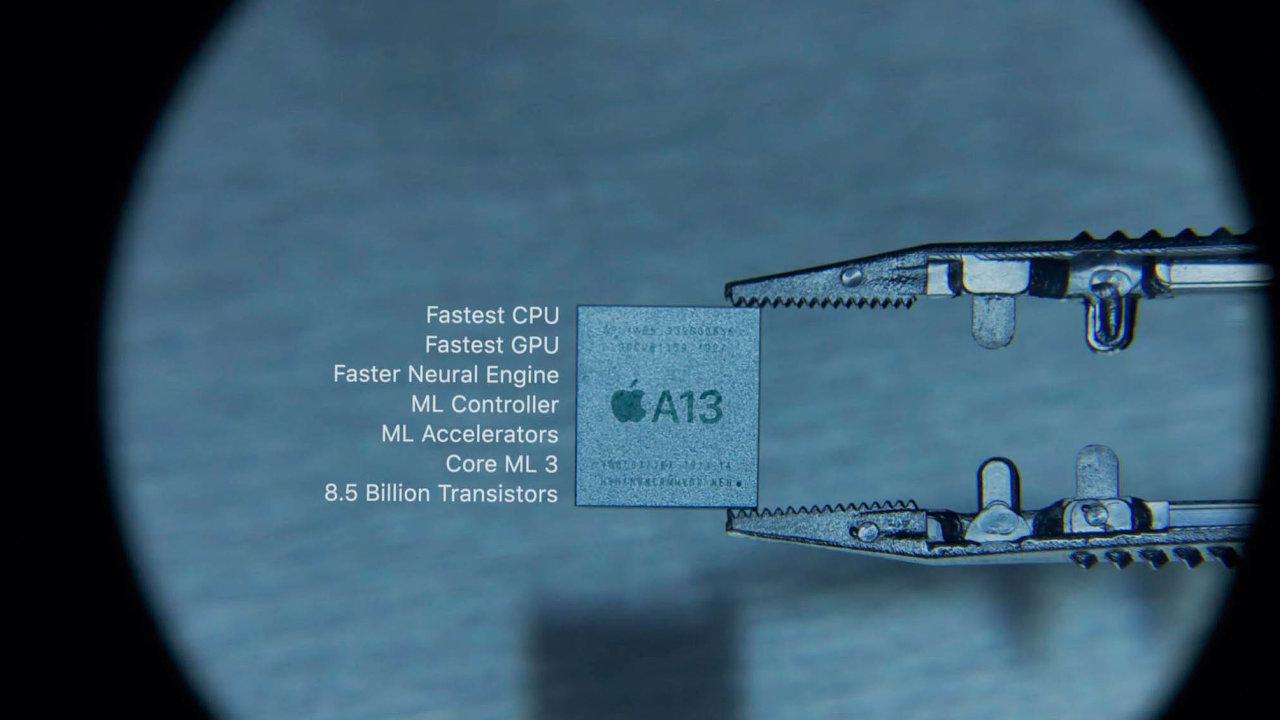 Cenný kousek křemíku. Procesor A13 s8,5 miliardy tranzistorů dělá ziPhonů nejvýkonnější mobily světa. Čip vyráběný vTSMC dominuje ivgrafice achlubí se nejrychlejším neuronovým modulem.